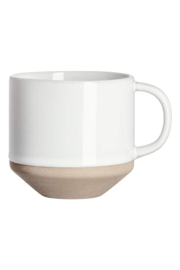 - Stoneware Mug - White - H & m Home