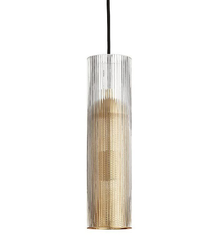 Striae Ribbed Glass Pendant Light