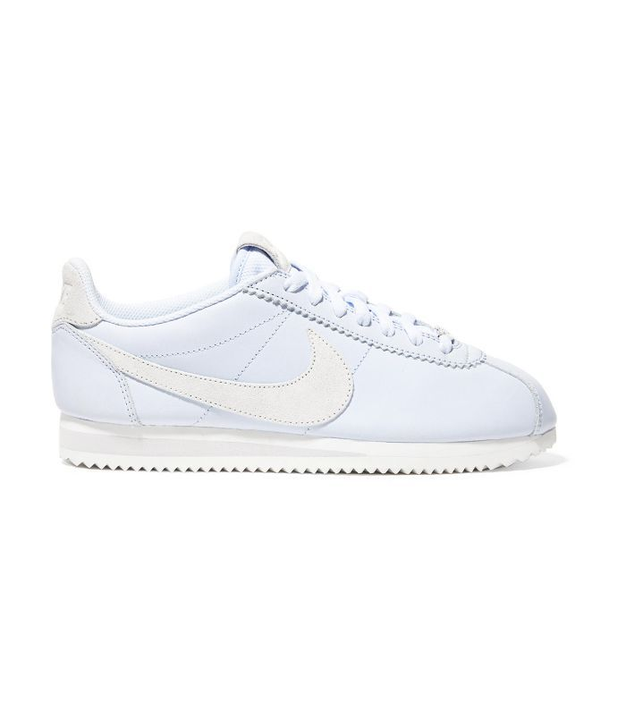 Nike Classic Cortez Faux Suede-Trimmed Leather Sneakers