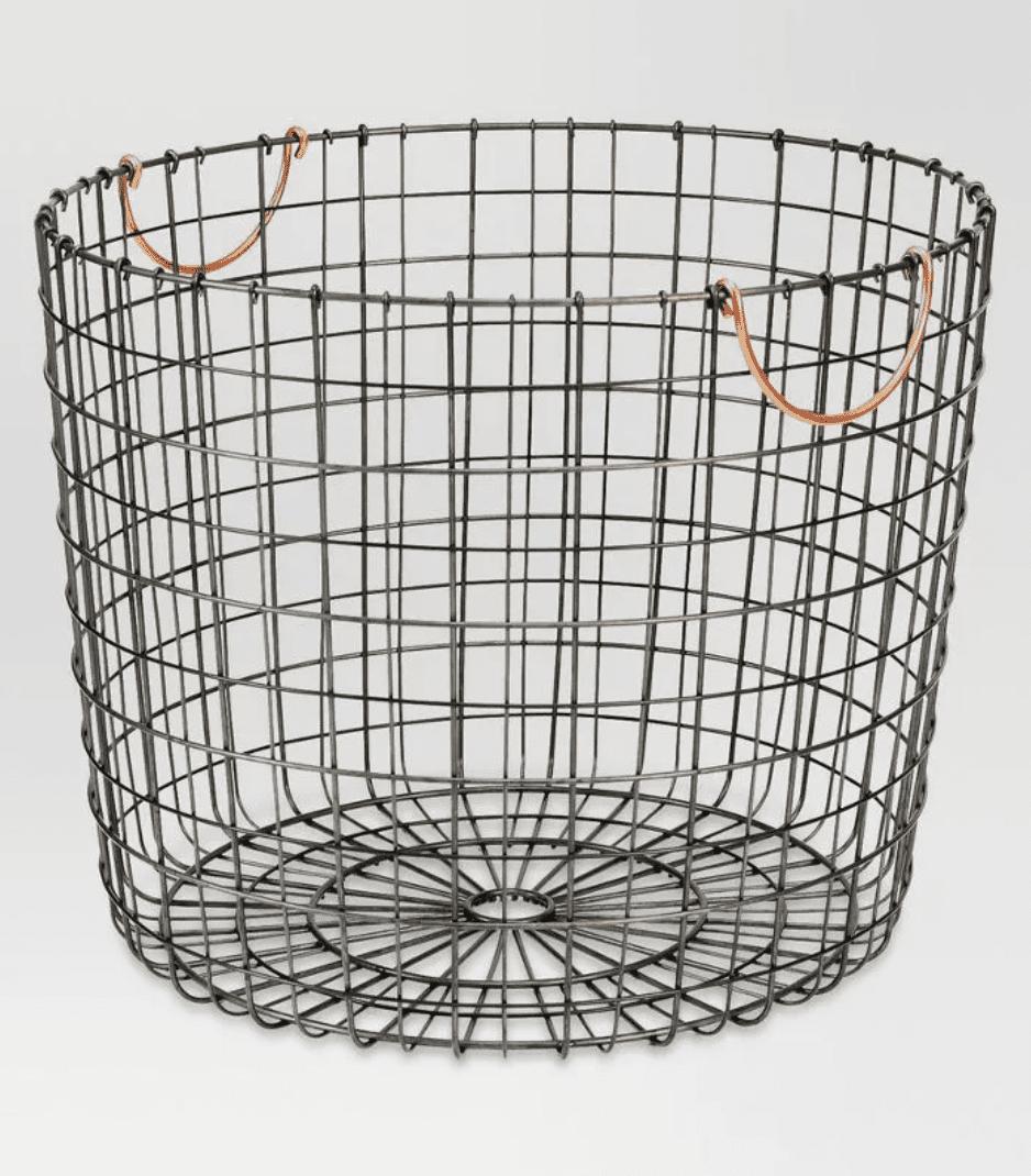 Threshold Extra Large Round Wire Decorative Storage Bin
