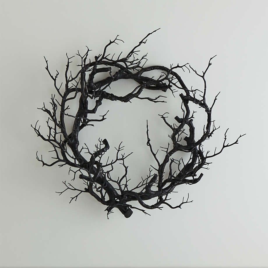 Artificial Black Branch Wreath