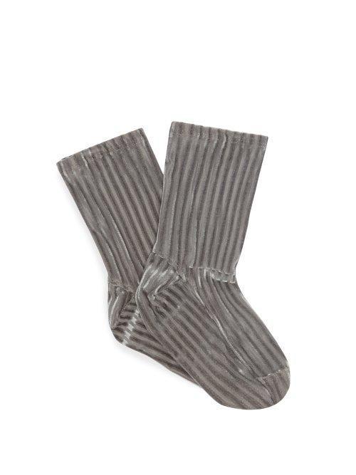 Darner Ribbed Velvet Ankle Socks
