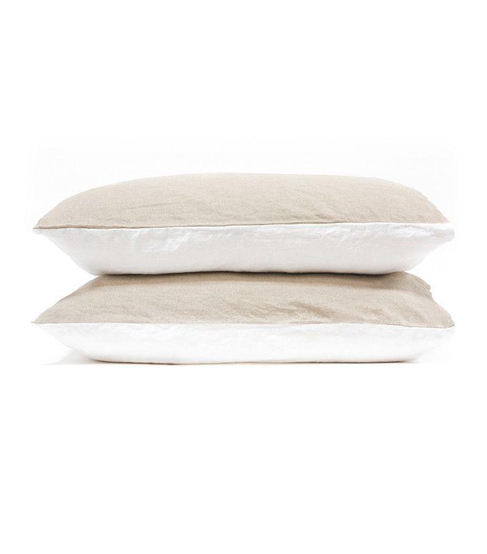 Morrow Two-Tone Linen Duvet Set