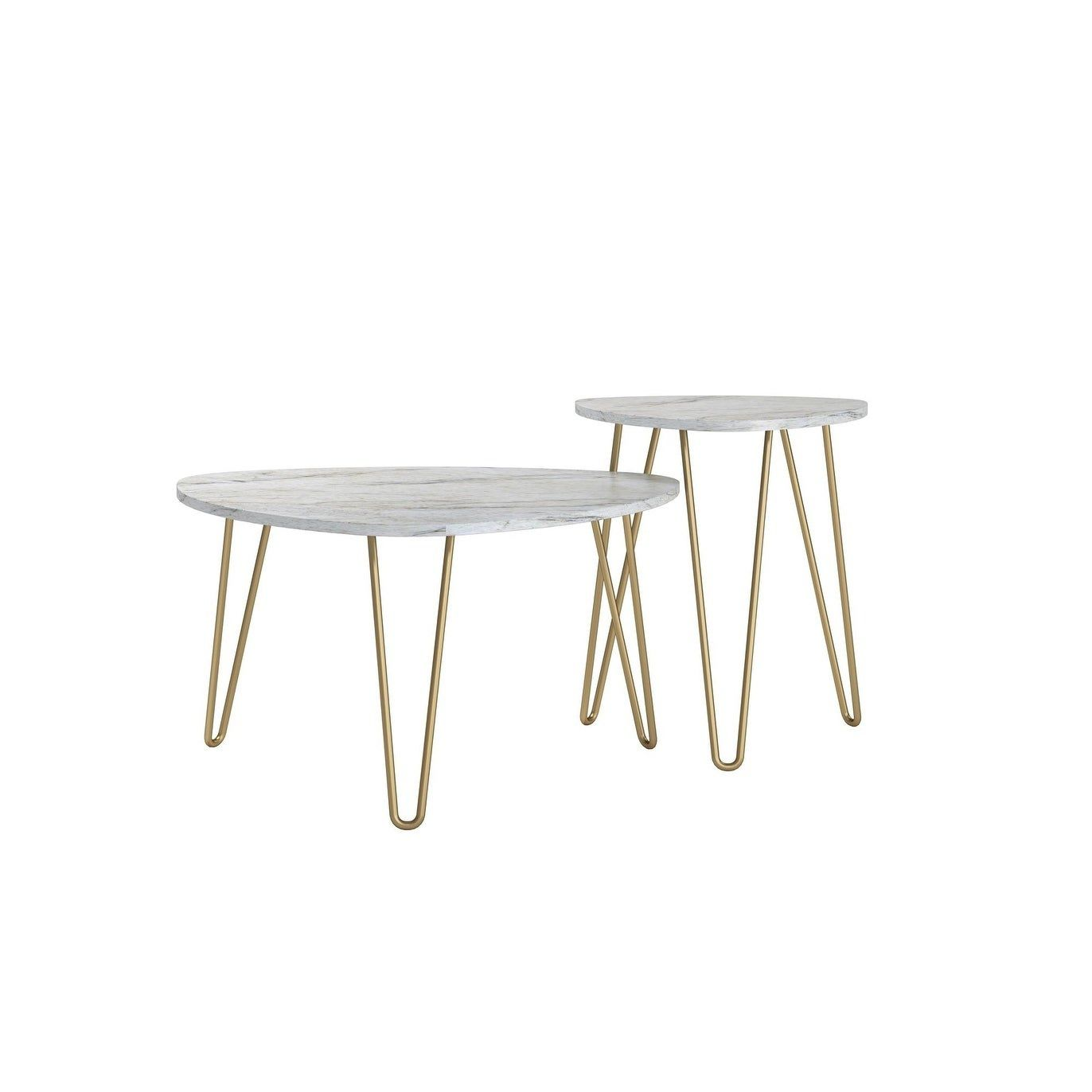 marble top nesting table