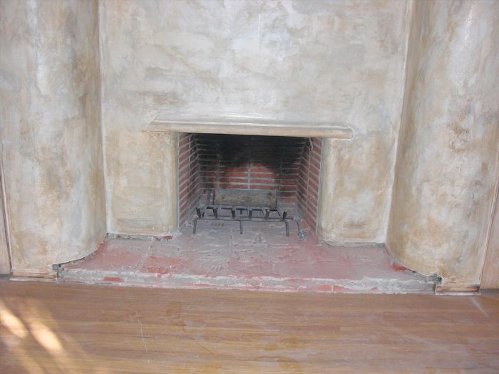 before photo of a fireplace