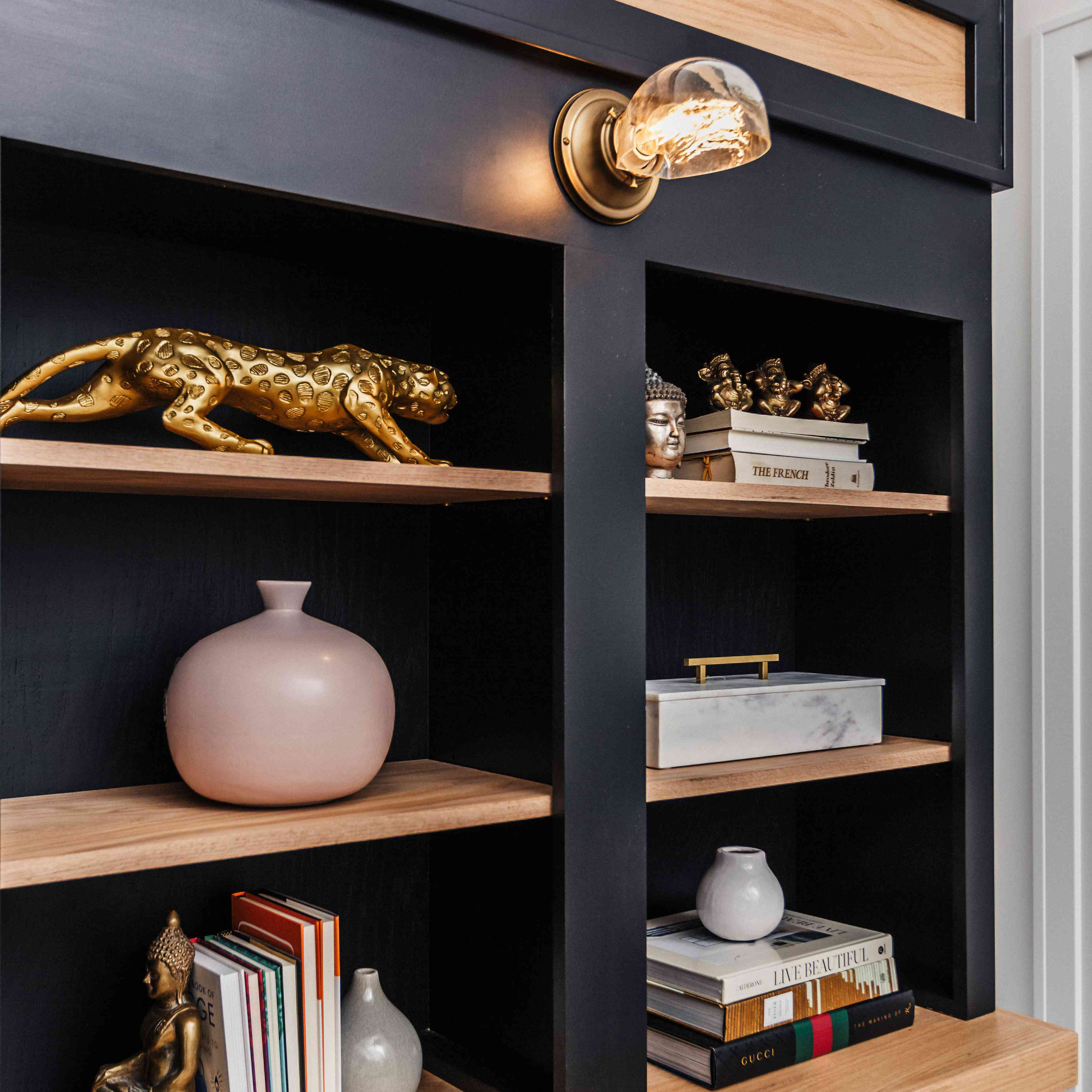Candace Griffin favorite room - office with bookcase