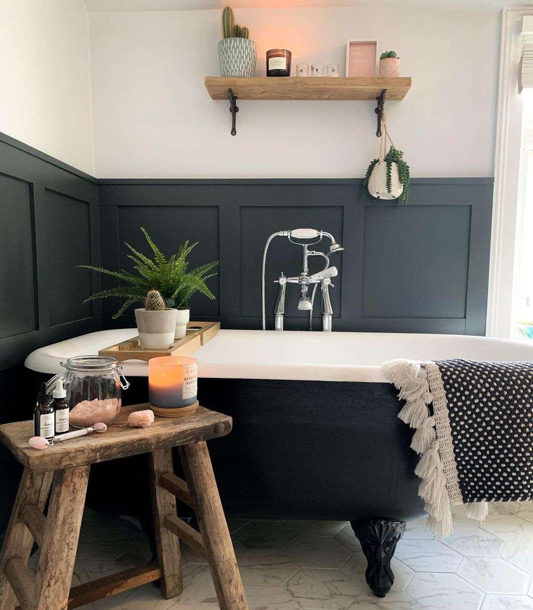 Bathroom with paneling