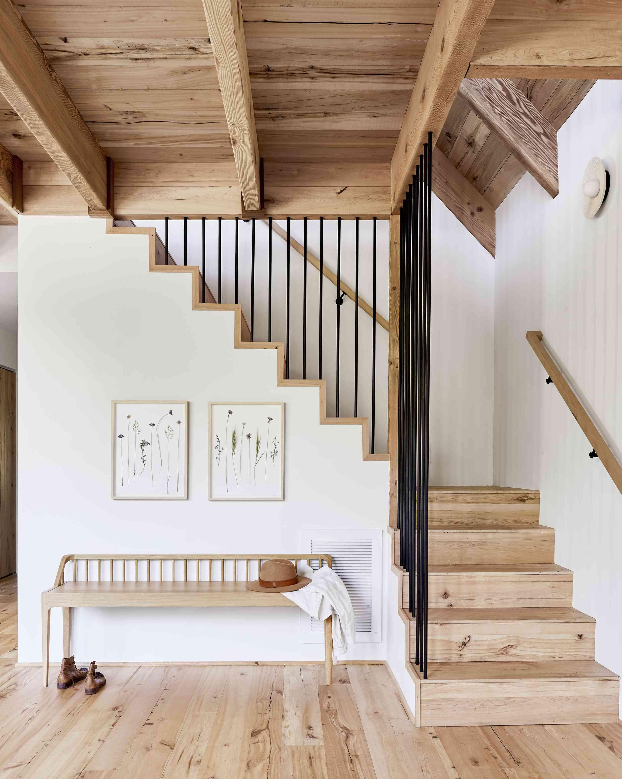 Simple, rustic stairway