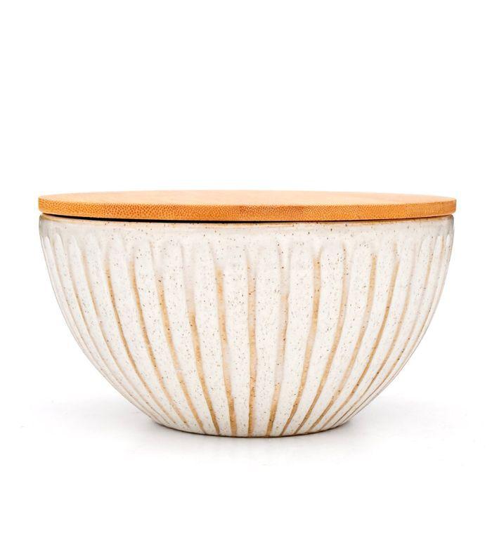 Leif Ridge Lidded Ceramic Bowl