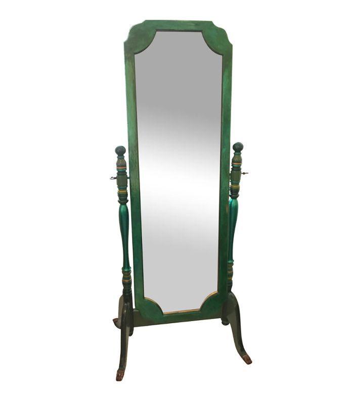 Vintage Emerald Full-Length Mirror