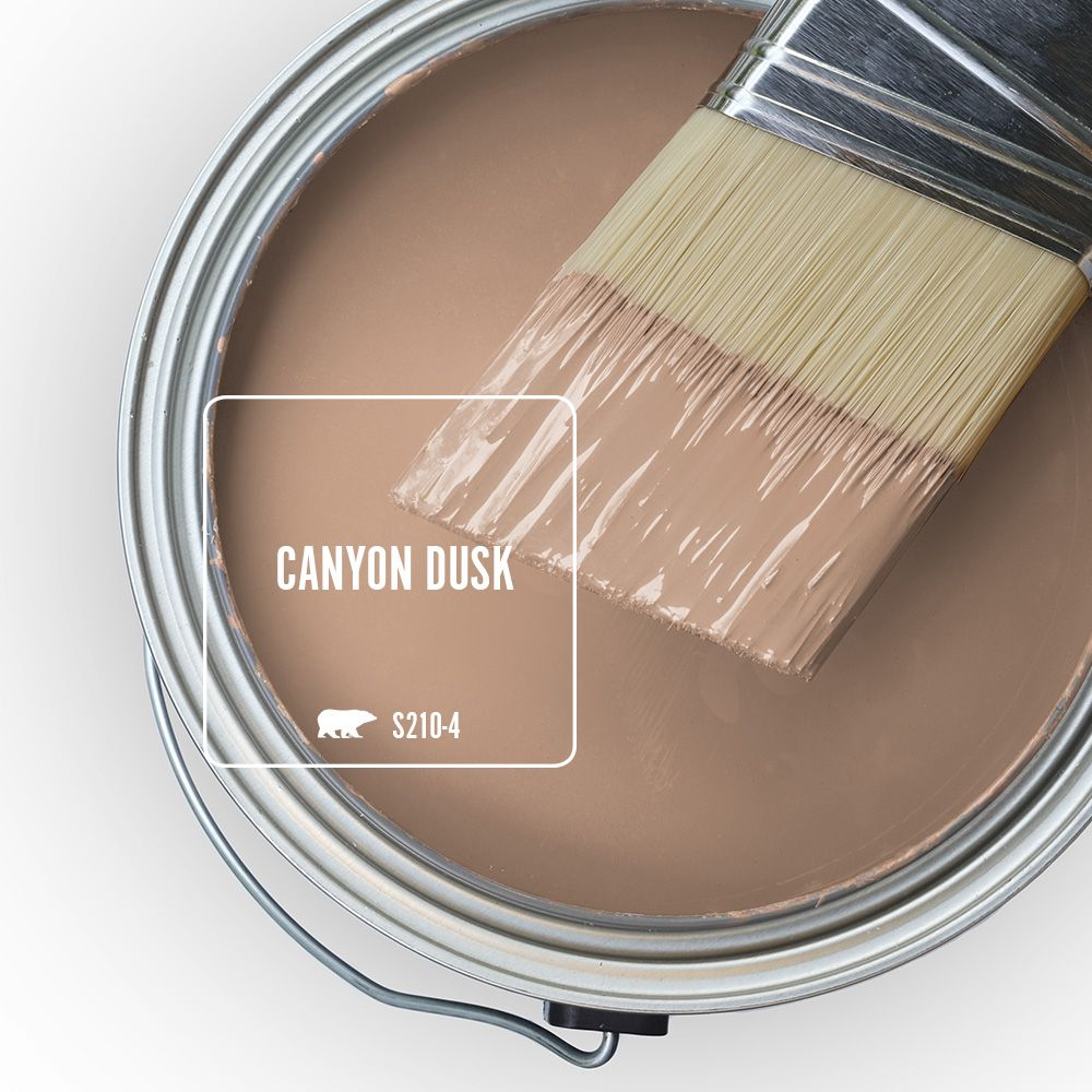 Behr paint can of Canyon Dusk