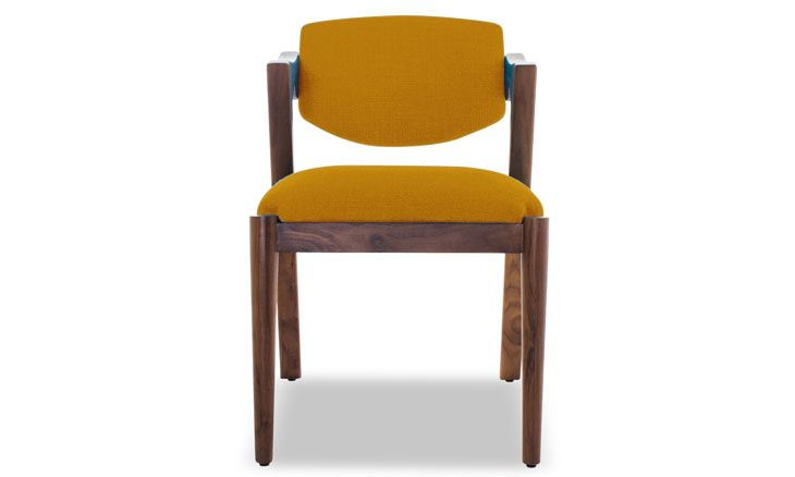 Morgan Dining Chair by Joybird in Cordova Amber
