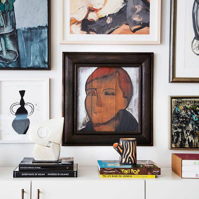 modern art in loft