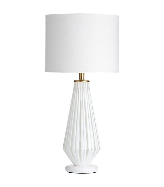 Alki White Glass Table Lamp