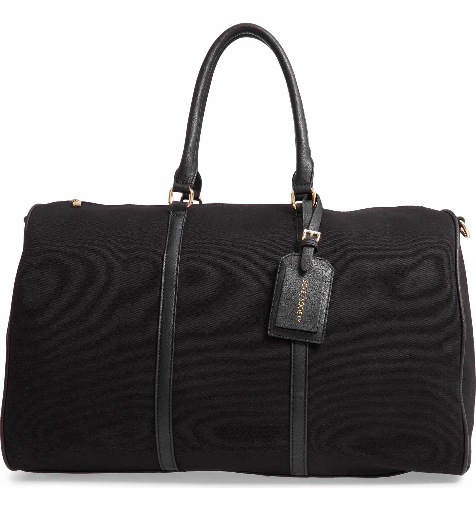 Lacie Faux Leather Duffle Bag