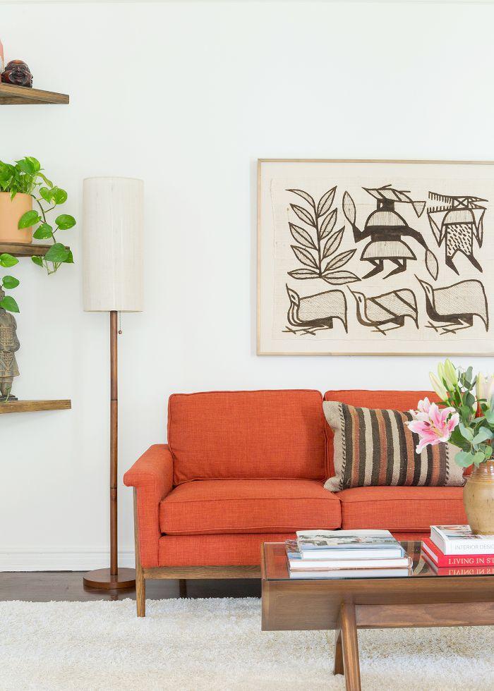 Bold living room sofa