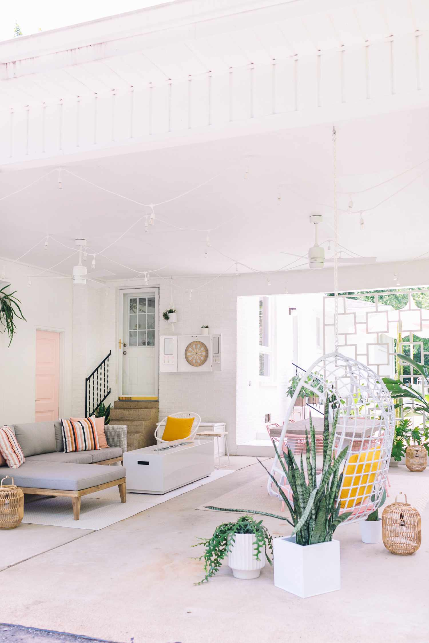 makeover of the week - palm springs inspired carport after shot