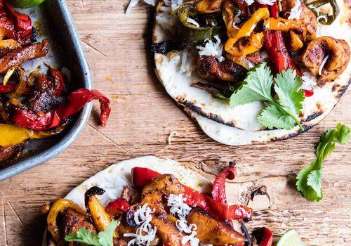 Sheet-pan poblano tacos
