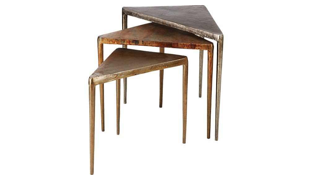 CB2 3-Piece Magma Metal Nesting Table Set