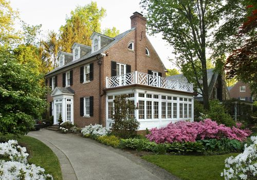 Colonial style house.