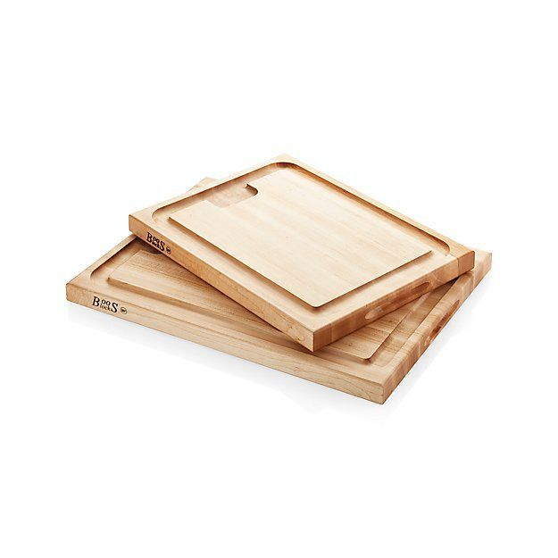 John Boos Au Jus Reversible Maple Cutting Boards