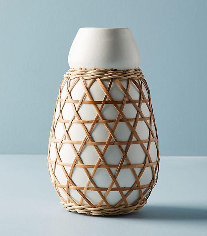 Woven Grass Vase