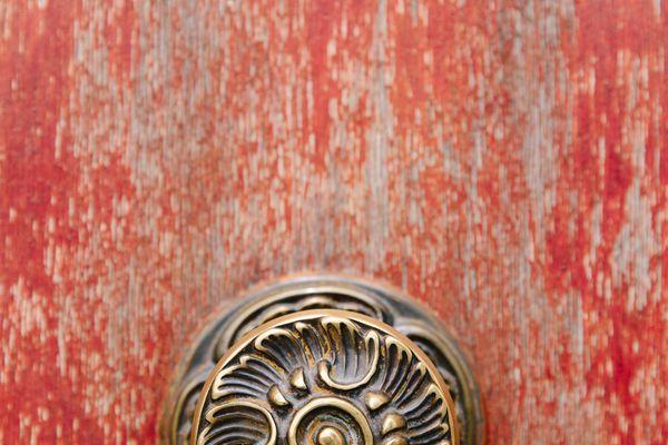Fancy Door Knob On Door
