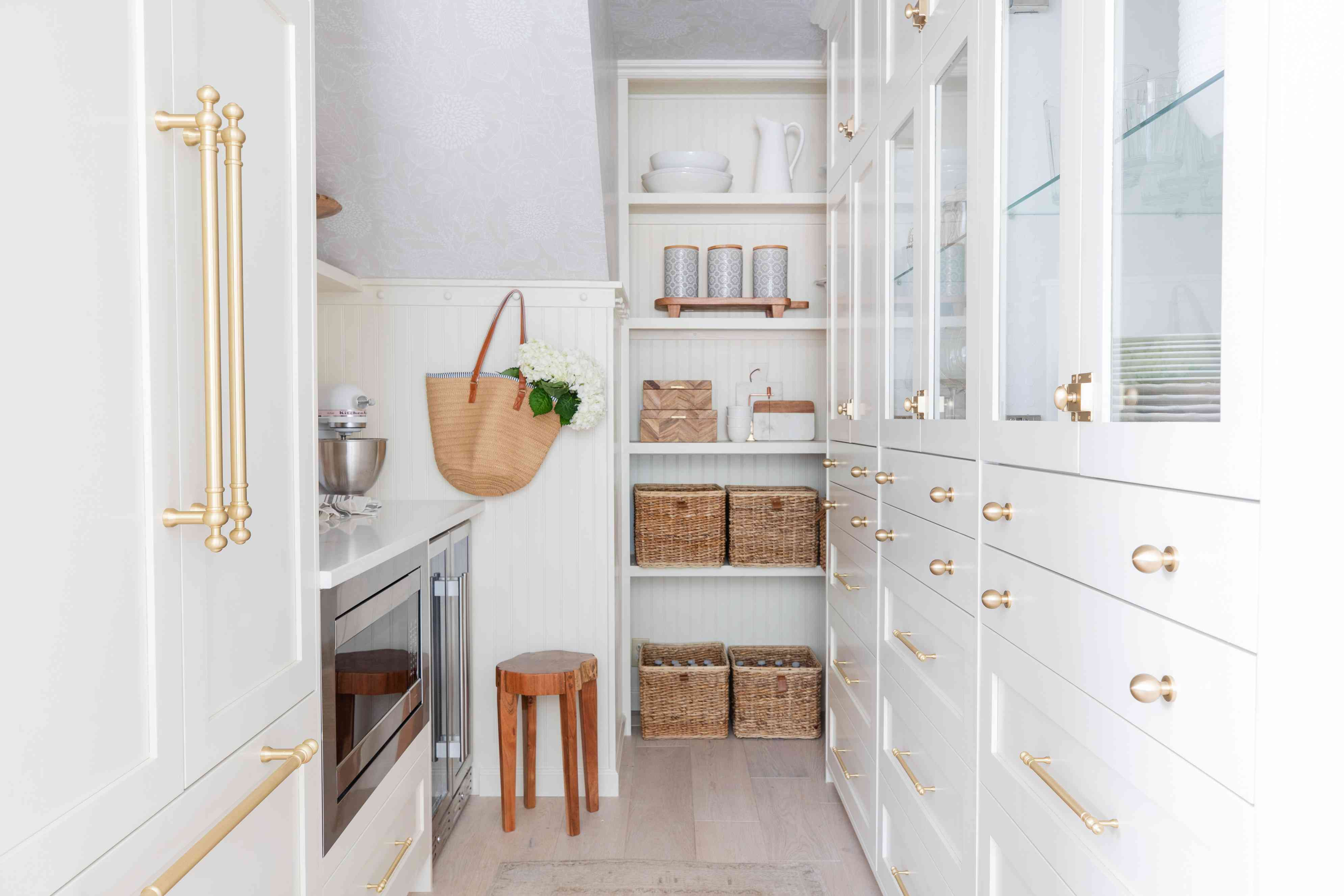 Under the stairs pantry storage.