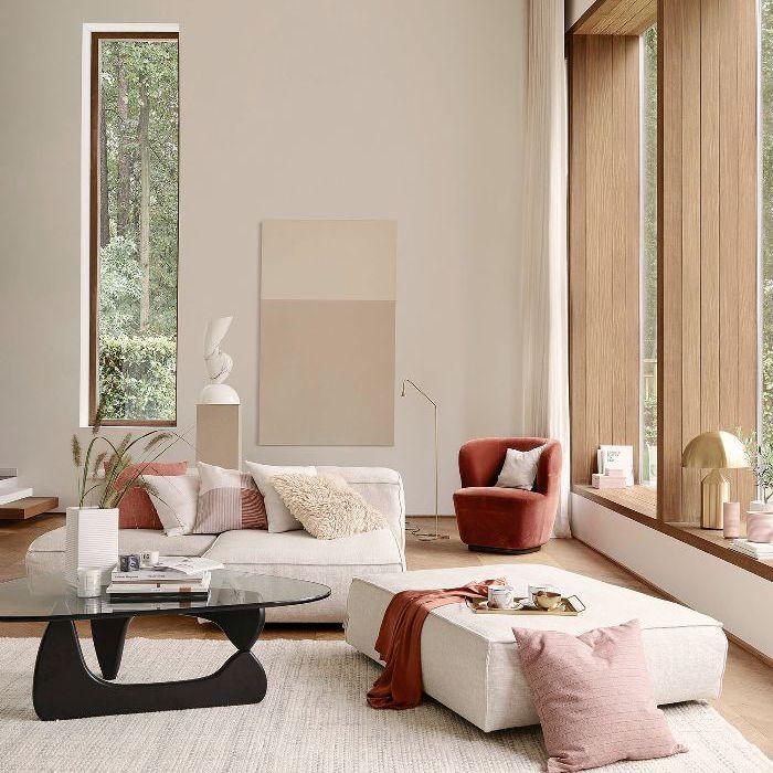 H&M Home—neutral living room