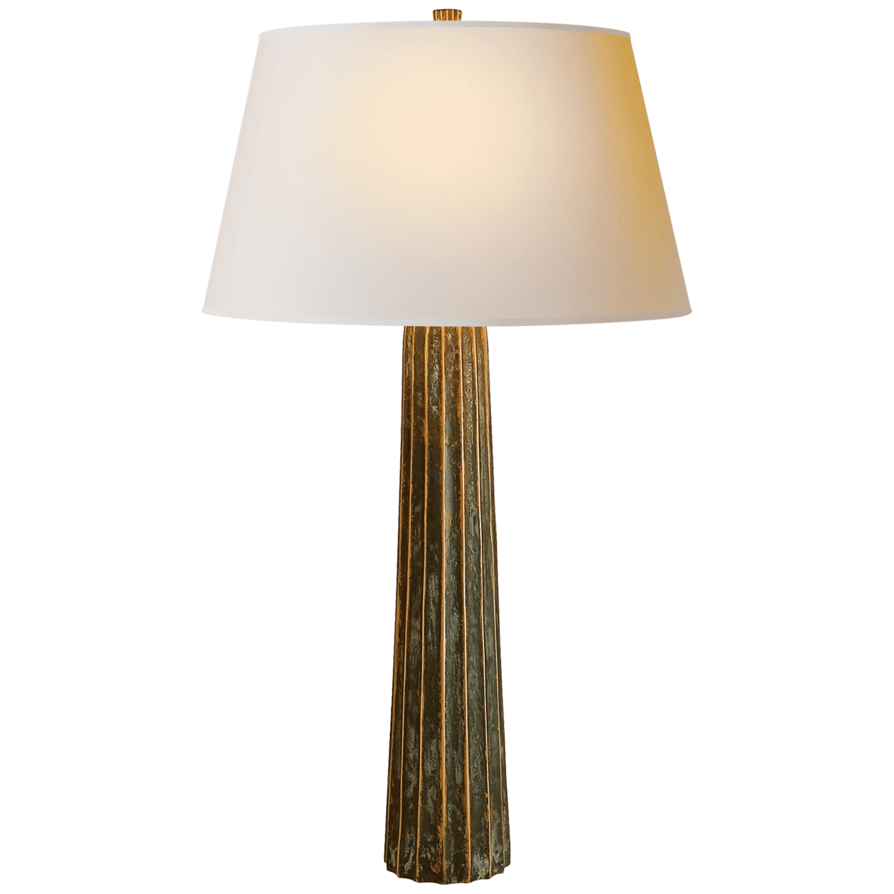 Fluted Spire Large Table Lamp