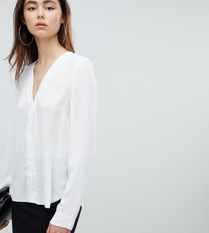 ASOS DESIGN Tall v neck blouse