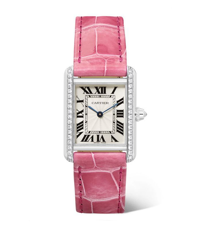 Cartier Tank Louis Cartier Rhodiumized 18-Karat White Gold