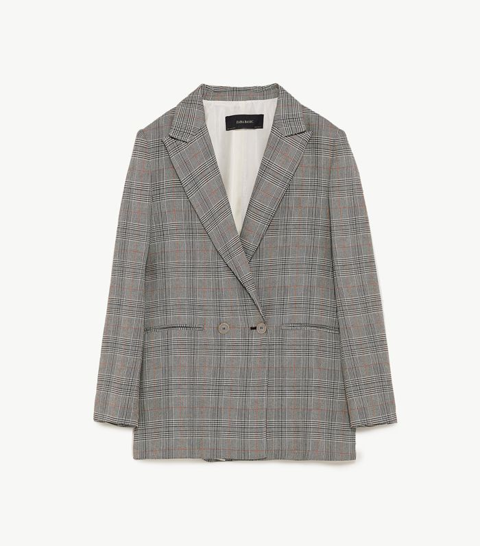 Khan Checked Canvas Blazer