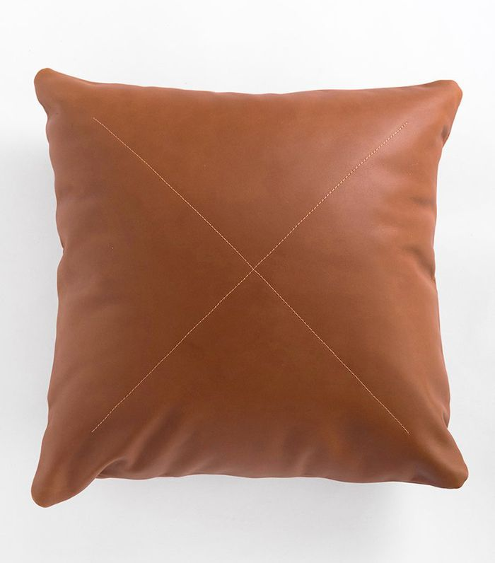 Rose and Fitzgerald Leather Safari Pillow