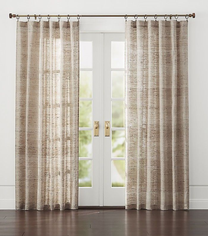 Crate And Barrel Hayden Silk Curtains 80