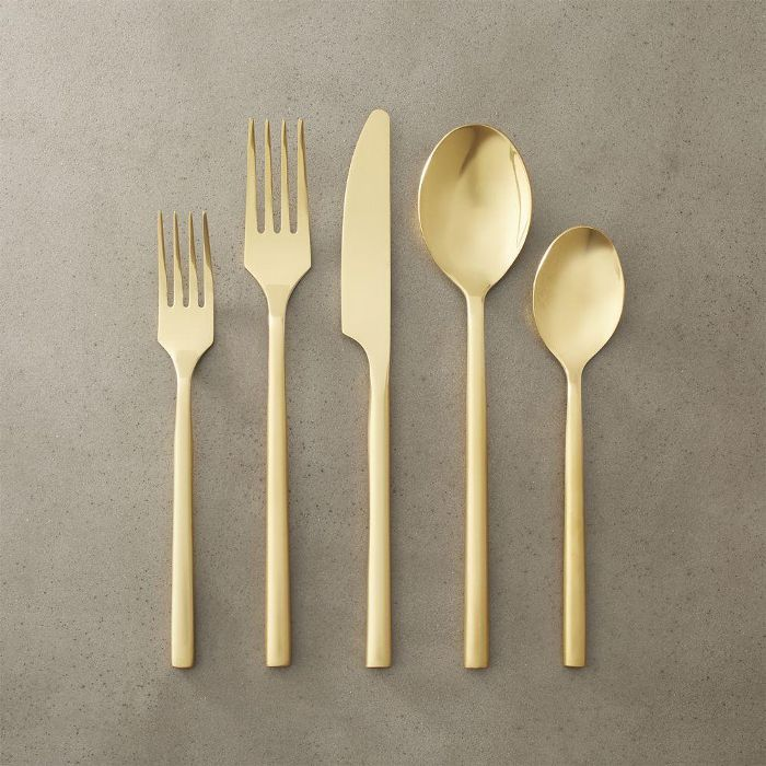 20-piece rush gold flatware set Holiday Party Ideas
