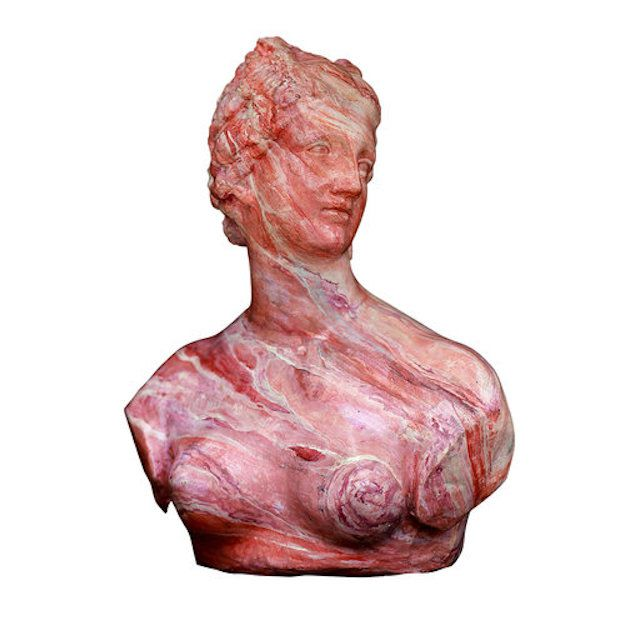 Galleria Romanelli Pink Marbled Bust Of Venus De' Medici
