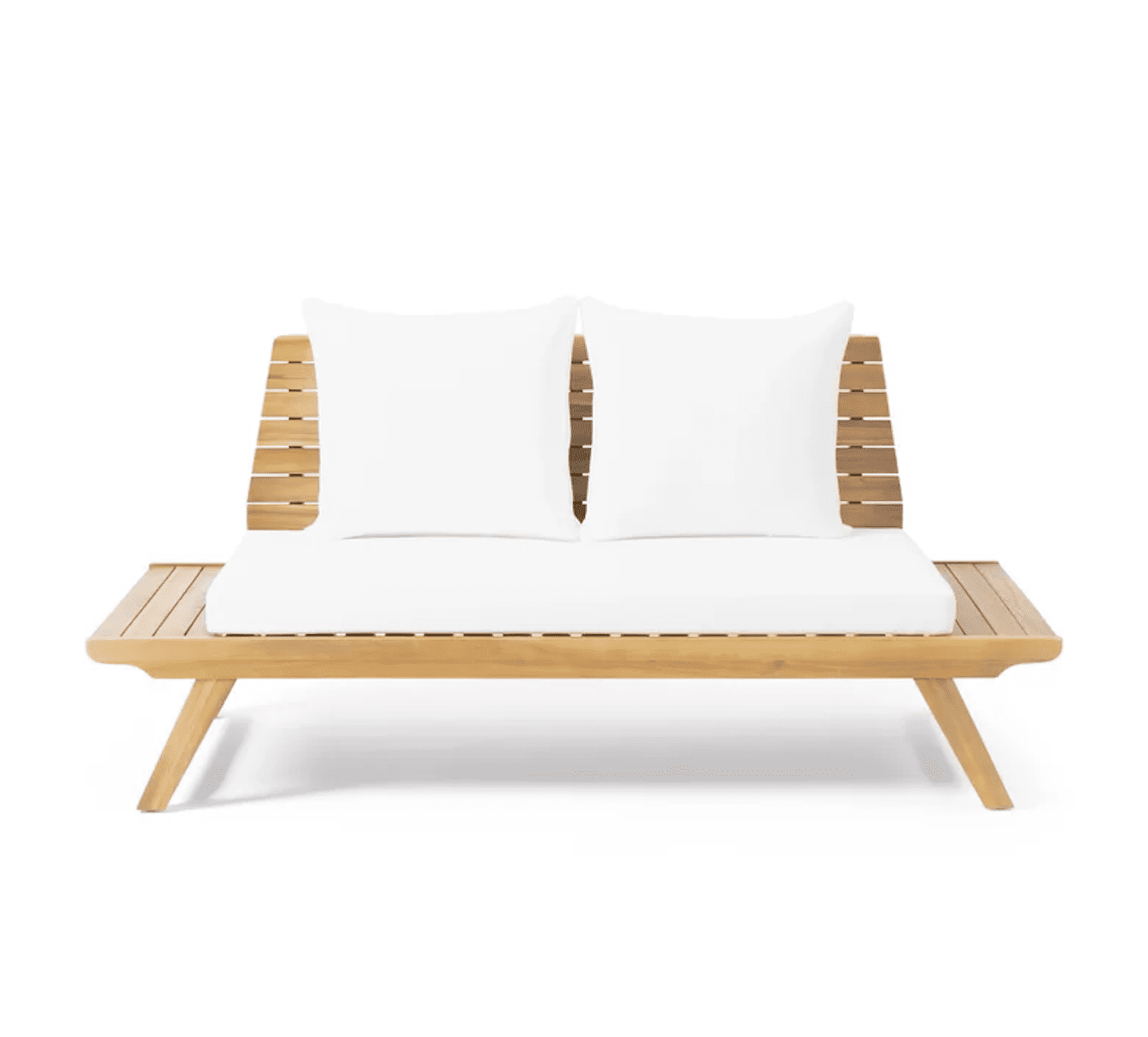 Bullock Outdoor Wooden Loveseat with Cushions