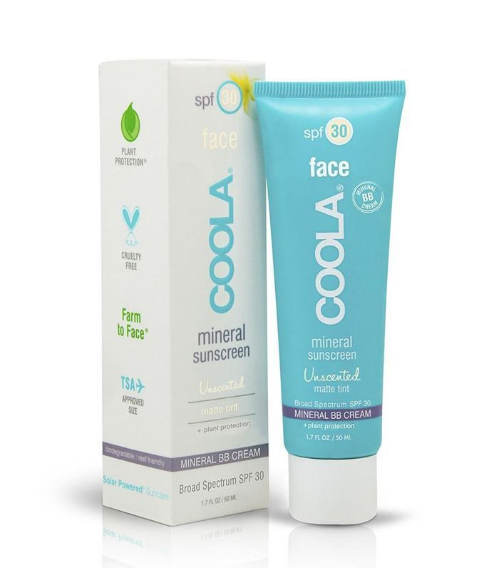 COOLA Mineral Suncare, Unscented Matte Tint Face Sunscreen, SPF 30, 1.7 fl. Ounce, Mineral BB Cream, Natural Beige Tint