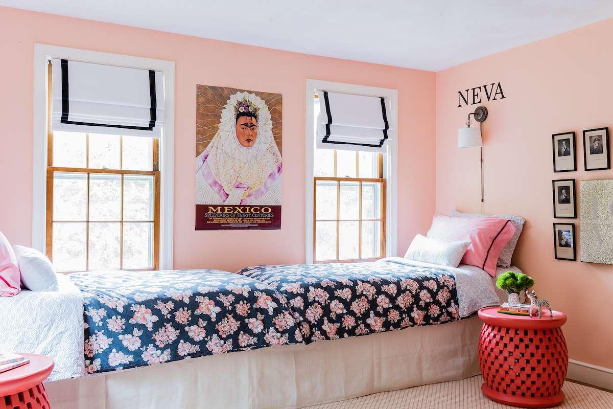 Child's pink bedroom