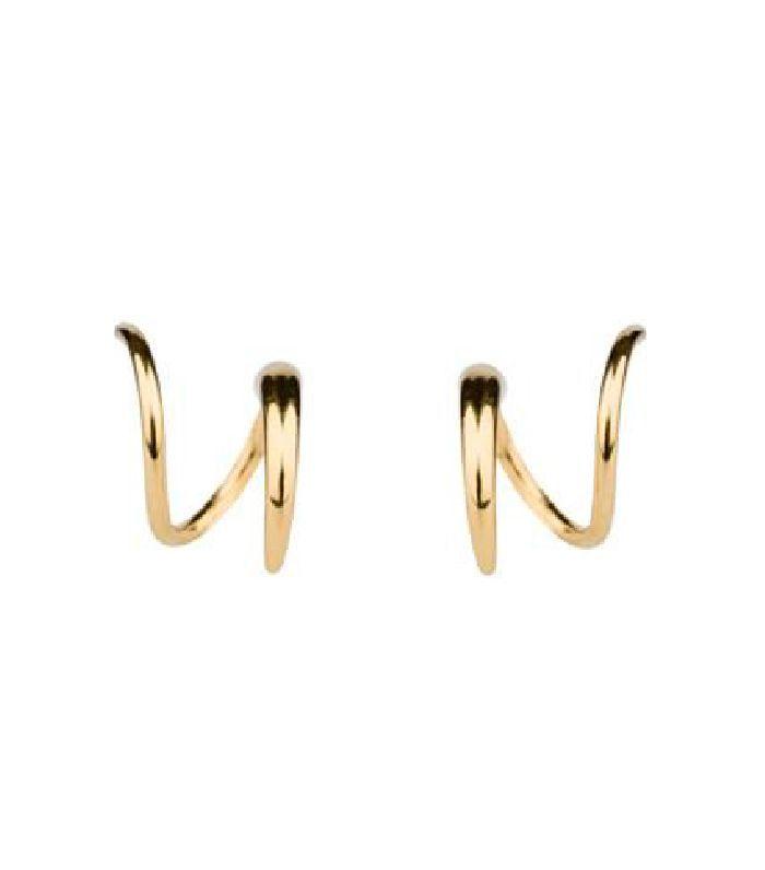 'Tusk' twirl earring, Women's, metallic