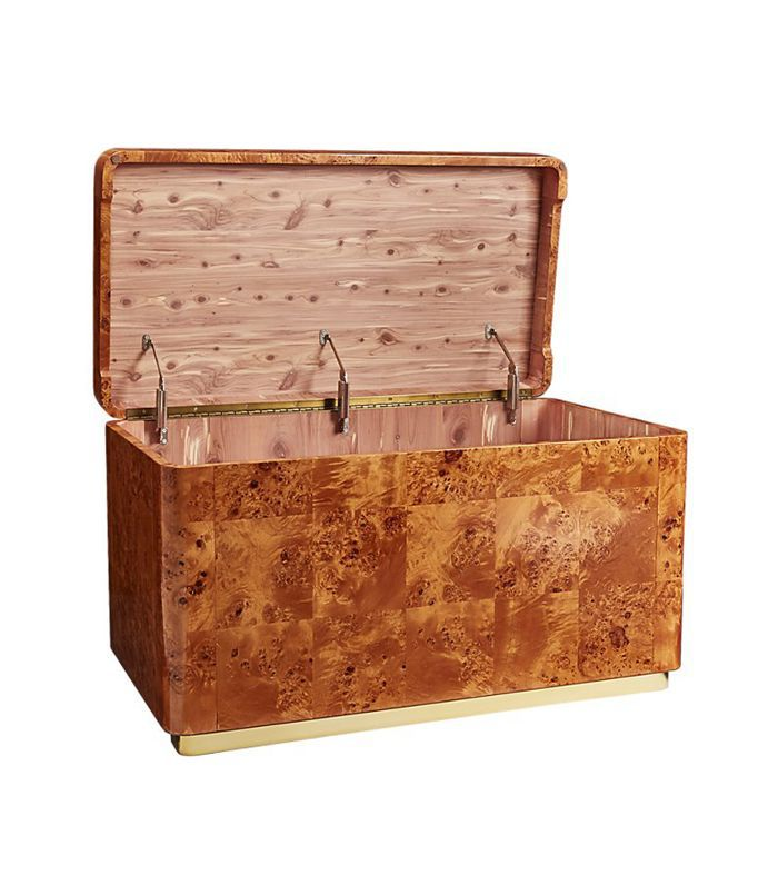 Burl Wood Cedar Lined Trunk