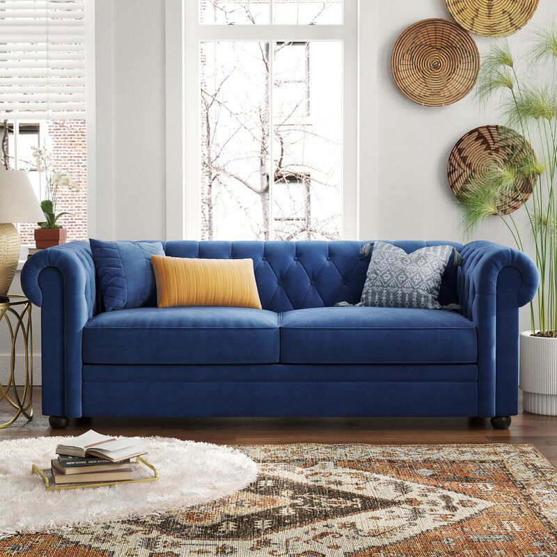 Criss Rolled Arm Chesterfield Sofa
