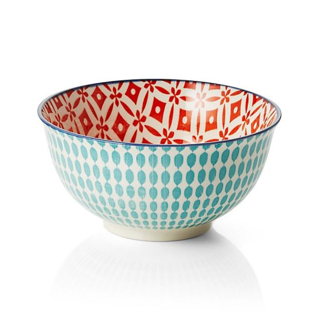 Crate and Barrel Yuki Aqua Bowls