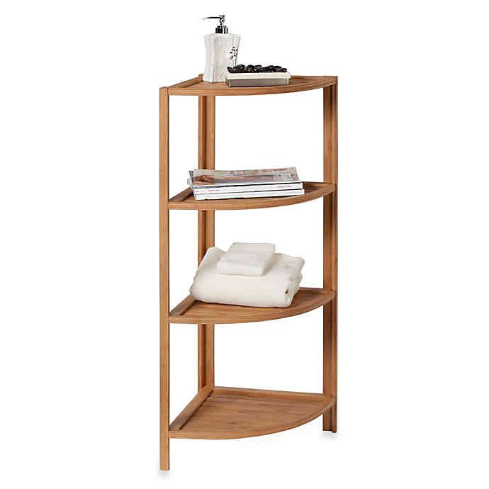 EcoStyles 4-shelf bathroom tower