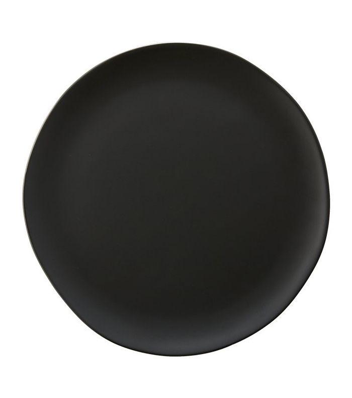 Crisp Matte Black Dinner Plate
