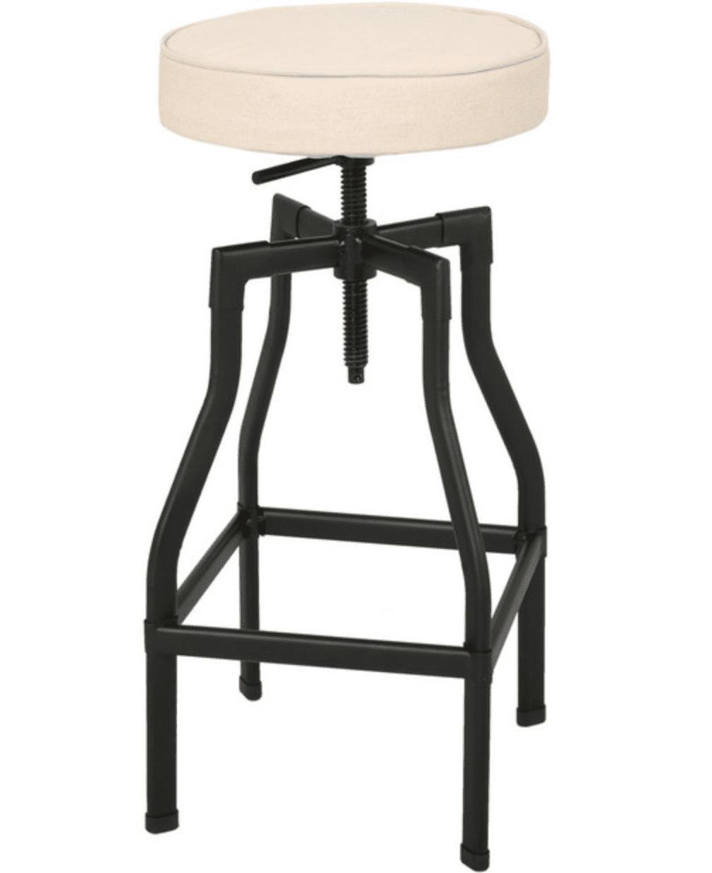 GDF Studio Marina Adjustable Fabric Barstool