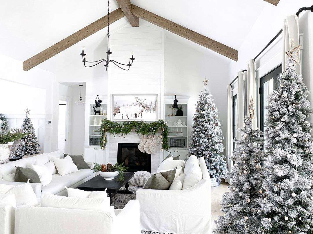 White and silver Christmas decor
