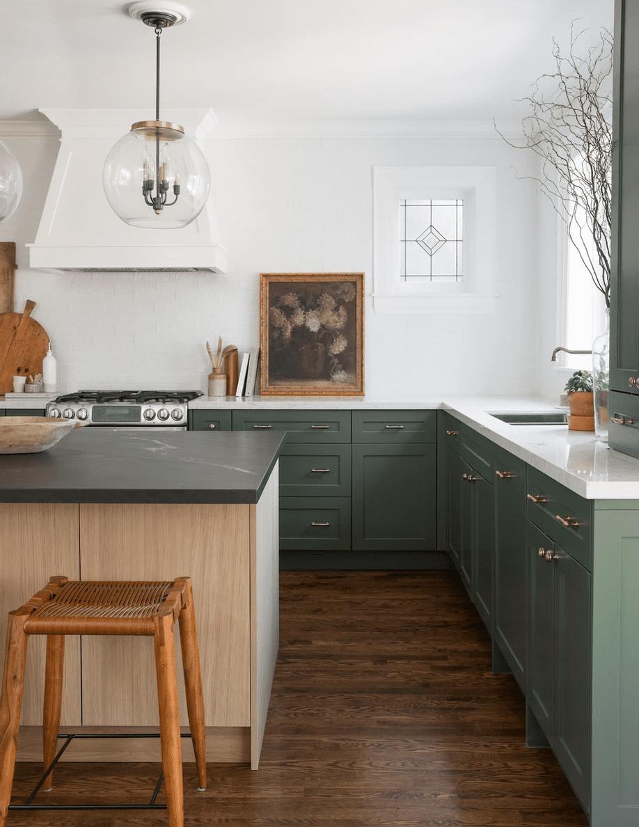 21 Best Green Kitchen Cabinet Ideas