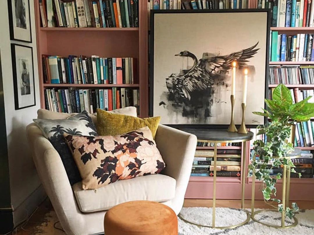 shelves living room wall